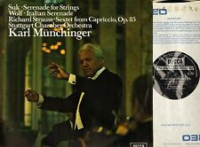 SXL 6533 MUNCHINGER suk serenade for strings/wolf italian/richard strauss LP