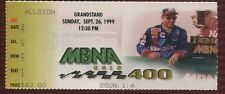 Ticket Nascar 1999 Dover Downs 9/26 MBNA 400