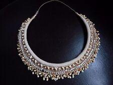 Couronne de mariée ancienne fleurs d'oranger boutons cire et perles