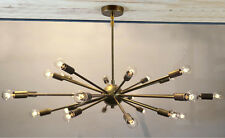 Mid Century Modern Brass Sputnik atomic chandelier starburst light Fixture