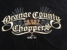 Orange County Chopper OCC Crown Wings T Shirt Tee Sword Eagles  XLarge Cotton