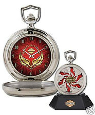 Franklin Mint HARLEY-DAVIDSON ~ COMBUSTION ~ CUSTOM CHROME POCKET WATCH COA NIB