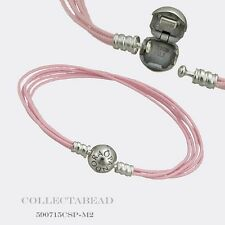 "Authentic Pandora Sterling Silver Pink Multi-Strand Color Cord  7.9"" 590715CSP"