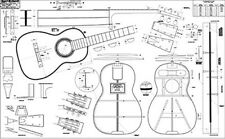 """Spanish-style Martin Guitar Full-Scale 36"""" x 58"""" Plan / lutherie /guitar making"""