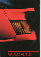 Renault Alpine V6 GT Turbo  • 1987 • Brochure Prospekt • Dutch • EXCELLENT