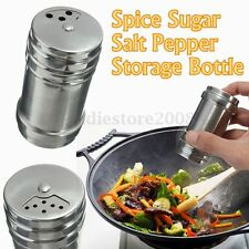 Spice Sugar Salt Pepper Herb Shaker Jar Toothpick Storage Bottle Stainless Steel