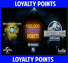 Jurassic WORLD The Game 100,000 LOYALTY POINTS package Android iOS park