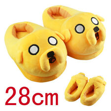 Hot anime Adventure Time Jake The Dog Plush slippers yellow toy Warm winter D03