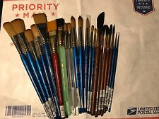NEW Princeton Neptune Winsor Newton 21 Paint Brushes Lot Artist Water Color