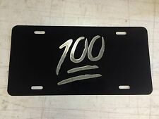 100 emoji LOGO Car Tag Diamond Etched on Aluminum License Plate