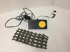 LEGO Train 9V Electric Power Supply Transformer Regulator & 8 Track Parts