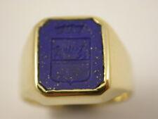 traumhaft schöner Wappen Ring Lapis Lazuli in Gold 750