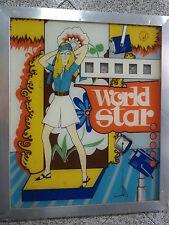 PANNELLO PER SLOT MACHINE ORIGINALE WORLD STAR ANNI 80 USATO