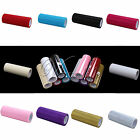 "5 Rolls 6""x 10Y Glitter Tulle Tutu Skirt DIY Wedding Party Gift Bow Fabric Decor"
