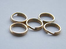 5x-9ct Yellow Gold 5mm Split Rings-Findings-Charm Bracelets-Jump Ring-Not Scrap