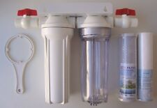 """10"""" Whole House White & Clear stage filtration water system 3/4"""" thread"""