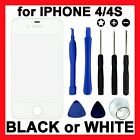 Replacement Front Glass Touch Panel Screen Cover + Tools for Apple iPhone 4S 4G