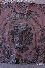 "Antique 19thC French Woven Romantic Tapestry Fabric~9""LX31""W~Pillows,Frame"