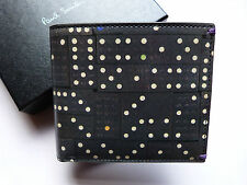 Paul Smith Mens Black Leather Wallet Vintage Domino Design Perfect & Genuine!