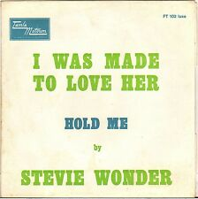 "STEVIE WONDER ""I WAS MADE TO LOVE HER"" 60'S SP TAMLA MOTOWN FT 102"