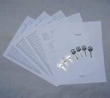 LOCKSMITH - Kwikset KW1 Space & Depth Keys With Master Key System Work Sheets