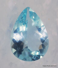 Aquamarine Faceted Gemstone Aquamarin Edelstein Aquamarina 2.42 ct