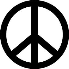 CND -  BAN THE BOMB PEACE SYMBOL VINYL - STICKERS CAR DECALS