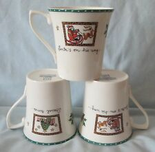 Mikasa Christmas Wish Cappuccino Mugs Set of 3