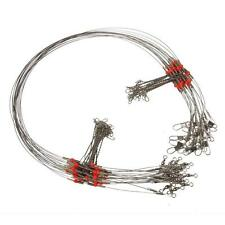 10 Pcs Fishing Wire Leader Trace With Snap