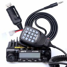 QYT KT-UV980 UHF 45W VHF 60W Car Trunk FM Mobile Transceiver Two Way Radio Cable