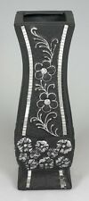 Black and Silver Flowers Mirrors Ceramic Vase for artificial flower arrangement