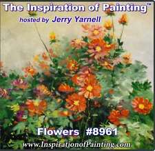 Jerry Yarnell dvd FLOWERS #8961 acrylic painting art lesson