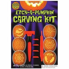 Pumpkin Pro Etch-a Pumpkin Carving Kit 6 Stencils-1 Handle, 4 Tips, 1 Tool New!