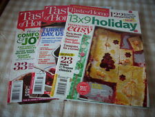 Recipe magazines, Taste of Home, lot of 3, 13x9 Holiday, Homemade, Turkey Day