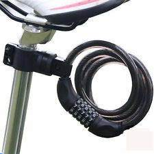4 Digital Universal Bike Bicycle Cycling Security Coded Lock Steel Chain Cable