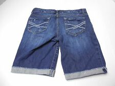 Womens Size 3/4 Aeropostale Denim Blue Jean Bermuda Shorts