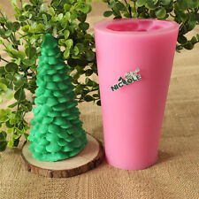 Christmas Tree Silicone Candle Mold DIY Soap Craft Clay Cake Decorating Mould