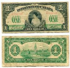 1917 Dominion of Canada One Dollar Note Princess Patricia K-336543