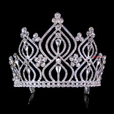 11cm High Large  Full Crystal Wedding Bridal Party Pageant Prom Tiara Comb