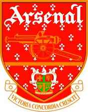 "Arsenal England Soccer Football Bumper Sticker 4"" x 5"""