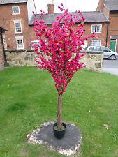 Piante ARTIFICIALI - 5' Grandi Rosa Scuro Fiore Artificiale Albero con Fiori