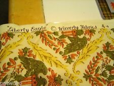 WAVERLY BONDED FABRIC PATRIOTIC LIBERTY EAGLE NEW BTY VHTF!