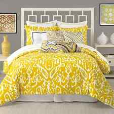 TRINA TURK IKAT 1 TWIN DUVET COVER YELLOW AND WHIT, ABSTRACT