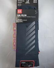 Under Armour UA Run Reflective Crew Running Trainer Socks Mens Large