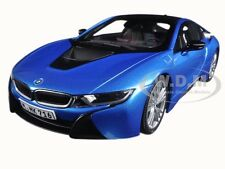 BMW i8 PROTONIC BLUE 1/18 DIECAST MODEL CAR BY PARAGON 97084
