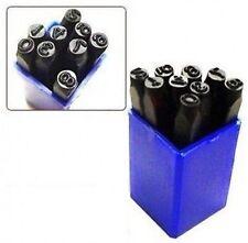 """1/2"""" Large Metal Number Punch Stamp Set Stamping Stamper Steel Die Tool Kit"""