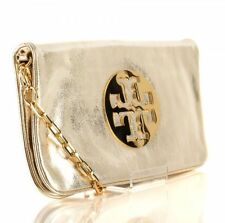 Tory Burch Gold Soft Leather Reva Clutch Handbag & Dust Bag LIKE NEW