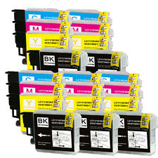 20 PK Ink Jet Cartridges Combo for Brother LC61 MFC J265w 270w J410w J415w J615