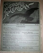 Illustrated American Magazine 1891 May 16th Price of Whales  MUSEUM COPY