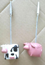 Photo Clip Name Card Holder Table Place Name   Animal shape - Cow & Pig